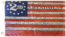 "2nd Amendment Betsy Ross 150D Woven Poly Nylon 12x18 12""x18"" Boat Grommets Flag"