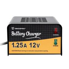DEKO 12V 1.25 Amp Smart Battery Maintainer Charger for Motorcycle Car Truck