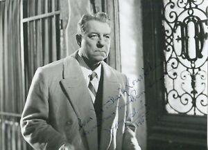 Autographe Dédicace ORIGINAL du Grand Acteur JEAN GABIN sur Photo d'exploitation