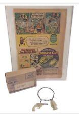 1948 Ralston Tom Mix Western Super Magnetic Compass Pistol Gun Ad & Mailer