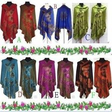 Fashion-New-Chinese-Lady-Double-Side-Butterfly-Pashmina-Scarf-Wrap-Shawl-Cape