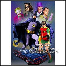 "Fridge Fun Refrigerator Magnet BATMAN 1960s TV ""Illustration B"" Adam West"