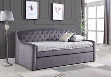 Brand New Velvet Grey Dream DayBed With Trundle *SALE NOW ON*