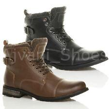 Scarpe da uomo stivali militari con cerniera
