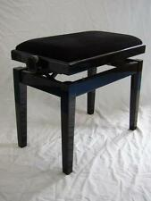 Klavierbank FEURICH XD-1 Schwarz poliert, Velours