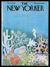 New Yorker magazine framing cover March 16 1963 seahorse colorful coral art