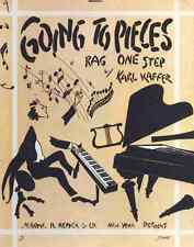 A4 Photo Sheet music cover for Going to Pieces Rag One Step 1915 Print Poster