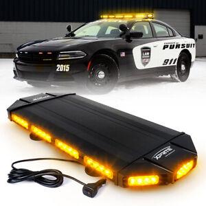 "Xprite 27""Inch Rooftop LED Strobe Light Bar Amber/Yellow Flash Emergency Warning"