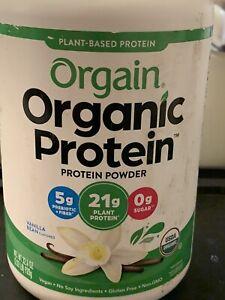 Orgain Organic Plant Based Protein Powder Vanilla Bean 2 lb Exp 06/2023 No Sugar
