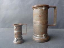 Lot de 2 anciennes mesures avec poinçons XIX° siècles old French measure