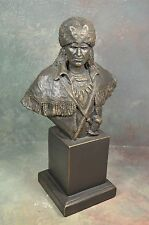 NATIVE AMERICAN SCULPTURE BY MICHAEL GARMAN  INDIAN WARRIOR 1992 SIGNED