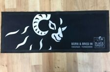 BLACK SHEEP MASHAM BREWERY - RUBBER BACKED BAR RUNNER - DRIP MAT USED CONDITION