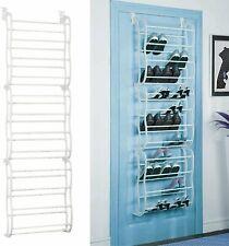 Over-The-Door Shoe Rack 36 Pair Wall Hanging Closet Organizer Storage Stand NEW
