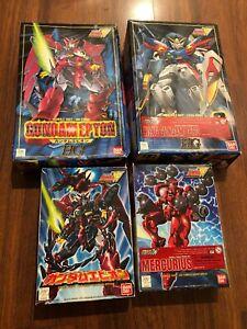 Bandai Gundam Model Kit Figures Lot Of 4 Built