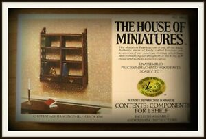 DOLL HOUSE OF MINIATURES CHIPPENDALE HANGING SHELF KIT, ANTIQUE REPLIC, c. 1760