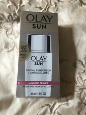 Olay Sun Facial Sunscreen+antioxidants Makeup Primer Broad Spectrum(SPF35) 1.3oz
