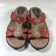 Fly Flot Made in Italy Vera Pelle Leather Floral Sandals Strappy Women's 36 US 5