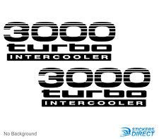 Toyota Prado 3000 Turbo Intercooler Sticker Set Of 2 Decals 90 120 Series 170mm