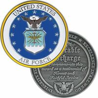 "AIR FORCE MILITARY HONORABLE DISCHARGE   1.75"" CHALLENGE COIN"