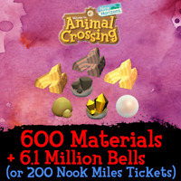 Animal Crossing New Horizons | Materials Pearls Wood Gold Iron Nuggets Clay Bait