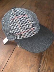 Brooks Brothers Grey Patterned Baseball Cap XL RRP £115 BRAND NEW Tweed Pattern