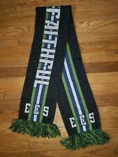 ECS Emerald City Supporters Seattle Sounders FC Scarf SSFC Brougham Faithful