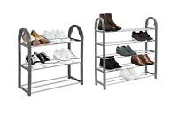 SHOE RACK Stand Storage Organiser Lightweight Compact SPACE SAVE Shelf Grey