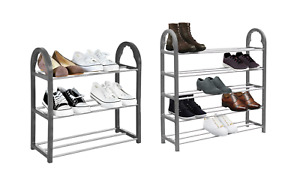 SHOE RACK Stand Storage Organiser Lightweight Compact SPACE SAVE Shelf Grey