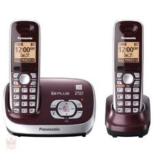 Wireless Home Phone Digital Answering System Panasonic Cordless 2 Handsets New