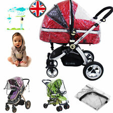 Universal Clear Rain Cover Raincovers for Pushchair Pram Stroller buggy UK LF