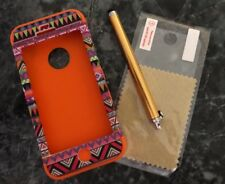 Iphone 5 Bohemia Tri silicon case Orange With Stylus And Screen Protector