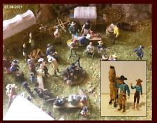 ein Paar mit Pferd   ( 1 : 87 )   Cowboy , Indianer , Westernstadt