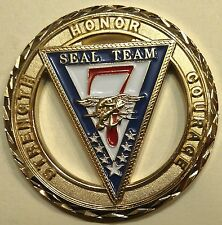 Naval Special Warfare SEAL Team 7 Cheifs Navy Challenge Coin