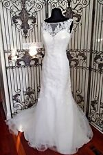 1006W  MOONLIGHT 6316 IVORY SZ 10 $1197 LACE TULLE WEDDING GOWN DRESS