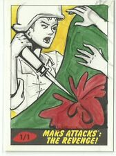 2017 Topps Mars Attacks The Revenge ! Woman Soldier Sketch Card by Cathy Razim