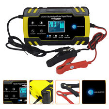 4A 8 Amp Intelligent Car Battery Charger Pulse Repair Starter 12V/24V AGM/GEL