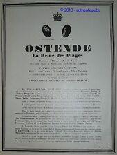 PUBLICITE 1926 OSTENDE BELGIQUE REINE DES PLAGE DES ETOILES CONCERT FRENCH AD
