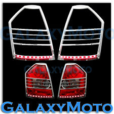 08-10 Chrysler 300+300C Chrome Taillight Tail Light Trim Bezel+RED LED Cover