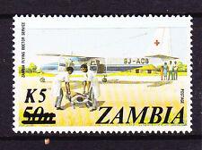 ZAMBIA   1985  5k on 50n PLANE   MNH