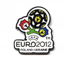 logo pin EURO 2012 OFFICIAL UEFA LICENSED PRODUCT soccer football - RARE