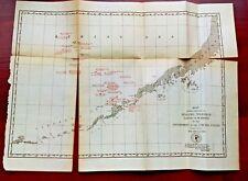 1889 Map Sealing Vessels Seized or Warned by US near Aleutian Islands Alaska