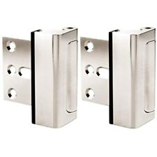 Door Lock For Home Security (2-Pack) Easy To Install Latch Device, Aluminum &amp