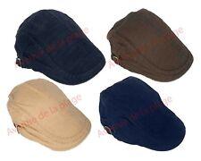 Casquette plate uni homme, casquette béret réglable accessoire mode neuf