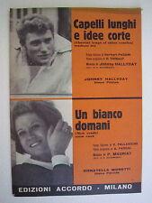 Spartiti Musica Johnny Hallyday Capelli Lunghi E Idee Corte Herbert Pagani  1966