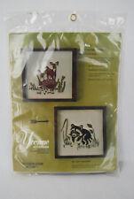 Vintage Yvonne of California Embroidery Kit No. 2012 Raccoon NIP