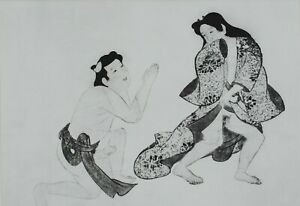 Honami Koyetsu: the Request the Lover - Lithography Erotic, 1961# Japan