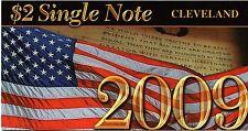 "$2 2009  NOTE  BEP SERIES  2003A  CLEVELAND  ""D""  S/N  D20099680D"