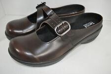 Sanita Catalina Cabrio Mary Jane Twin Strap Brown Leather 41 Women 10.5 to 11 M