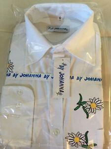 Trachtenhemd Freizeithemden Hemden Herren Business Weiß S Bestickt Baumwolle Neu