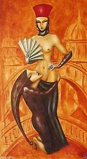"Painting Original Modern Art  Pronkin  Russian Avangard Nude ""SUPPLICANT"""